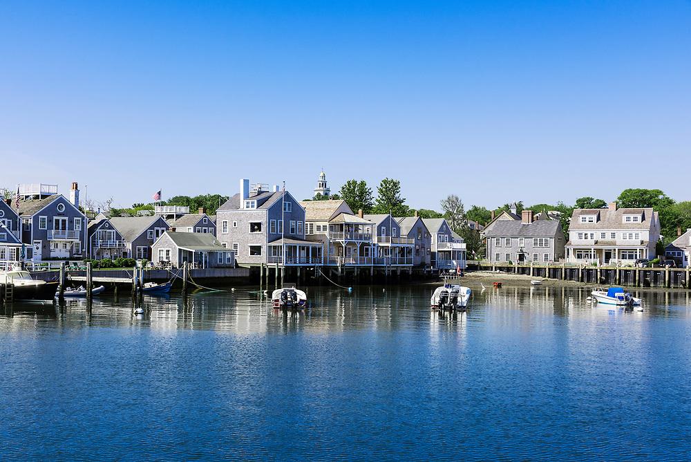 Harbor cottages, Nantucket, Massachusetts, USA.