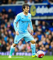 David Silva of Manchester City  - Mandatory byline: Matt McNulty/JMP - 07966386802 - 23/08/2015 - FOOTBALL - Goodison Park -Everton,England - Everton v Manchester City - Barclays Premier League