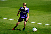 Jack Sparkes (31) of Exeter City warming up before the EFL Sky Bet League 2 match between Exeter City and Lincoln City at St James' Park, Exeter, England on 19 August 2017. Photo by Graham Hunt.
