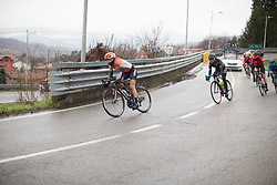 Amalie Dideriksen (DEN) of Boels-Dolmans Cycling Team descends during the Trofeo Alfredo Binda - a 131,1 km road race, between Taino and Cittiglio on March 18, 2018, in Varese, Italy. (Photo by Balint Hamvas/Velofocus.com)