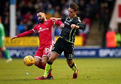 Tom Nichols of Bristol Rovers takes on Erhun Oztumer of Walsall - Mandatory by-line: Robbie Stephenson/JMP - 26/12/2017 - FOOTBALL - Banks's Stadium - Walsall, England - Walsall v Bristol Rovers - Sky Bet League One