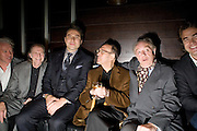 Nick Dunning; David Bradley; David Walliams;Sir Harold Pinter; Michael Gambon. The afterparty following the press night of 'No Man's Land', at Mint Leaf. Haymarket October 7, 2008 *** Local Caption *** -DO NOT ARCHIVE-© Copyright Photograph by Dafydd Jones. 248 Clapham Rd. London SW9 0PZ. Tel 0207 820 0771. www.dafjones.com.