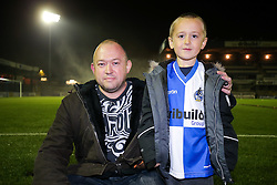Fans from Ireland - Rogan Thomson/JMP - 01/11/2016 - FOOTBALL - Memorial Stadium - Bristol, England - Bristol Rovers v Fleetwood Town - Sky Bet League One.