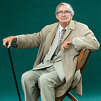 EDINBURGH, SCOTLAND - AUGUST17.Lord Denis Healey poses during a portrait session held at Edinburgh Book Festival on August 17, 2006  in Edinburgh, Scotland. (Photo by Marco Secchi/Getty Images).