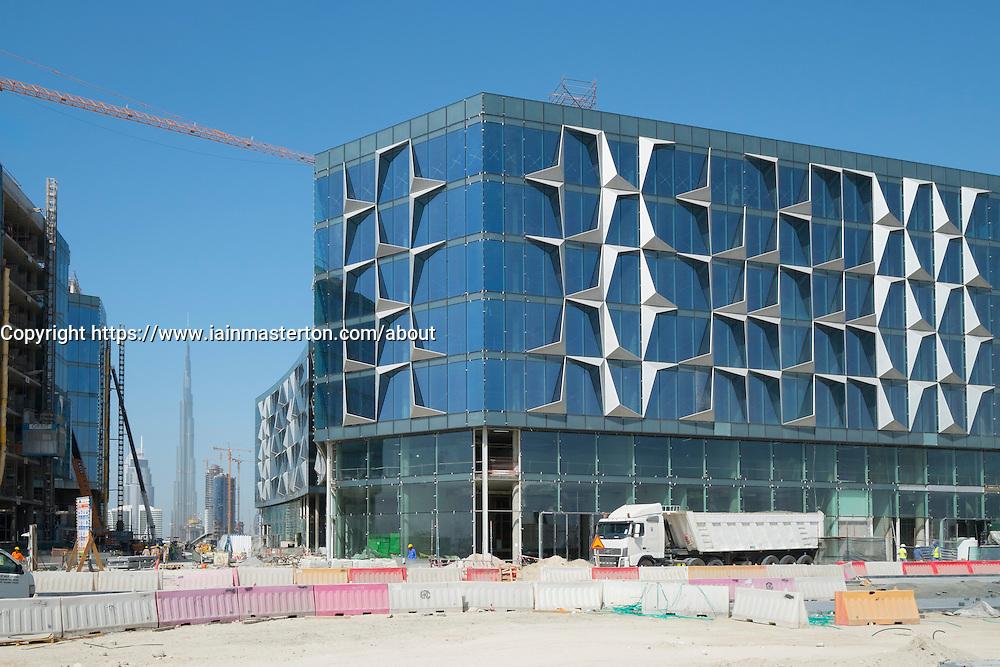 Construction site at new Dubai Design District (d3) in Dubai United Arab Emirates