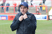 Fleetwood Town Manager Joey Barton prepares for the EFL Sky Bet League 1 match between Accrington Stanley and Fleetwood Town at the Fraser Eagle Stadium, Accrington, England on 30 March 2019.