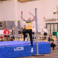 Ty Pederson in action during the 2018 Canada West Track & Field Championship on February  24 at James Daly Fieldhouse. Credit: Arthur Ward/Arthur Images