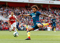 Football - 2018 / 2019 Premier League - Arsenal vs. West Ham United<br /> <br /> Felipe Anderson (West Ham United) with a late effort at the Arsenal goal at The Emirates.<br /> <br /> COLORSPORT/DANIEL BEARHAM
