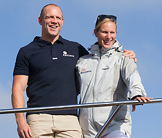 AUG 07 2014 Zara Phillips at Aberdeen Asset Management Cowes Week