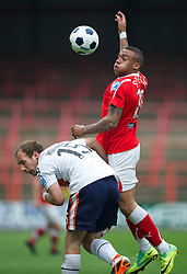 WREXHAM, WALES - Monday, May 7, 2012: Wrexham's Obi Anoruo in action against Luton Town during the Football Conference Premier Division Promotion Play-Off 2nd Leg at the Racecourse Ground. (Pic by David Rawcliffe/Propaganda)