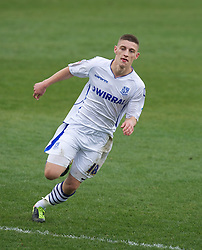BIRKENHEAD, ENGLAND - Saturday, April 21, 2012: Tranmere Rovers' Jake Cassidy in action against Hartlepool United during the Football League One match at Prenton Park. (Pic by David Rawcliffe/Propaganda)