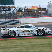 #63 Saleen S7, driver/owner Florent Moulin, '90s GT Legends Race, at the Silverstone Classic 2015