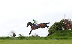 Cantlow ridden by jockey Mark Walsh (right) on the way to finishing second in the Friends First Cross Country Chase For The La Touche Cup during day three of the Punchestown Festival in Naas, Co. Kildare.