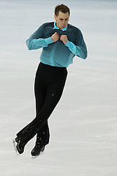 The XXII Winter Olympic Games 2014 in Sotchi, Olympics, Olympische Winterspiele Sotschi 2014<br /> Figure skating men short program in the Sochi 2014 Winter Olympics on February 6, 2014 in Sochi, Russia<br /> Peter Liebers (Germany) before performing his short program during the men's team figure skating competition at the XXII Olympic Winter Games in Sochi
