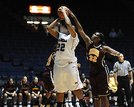 """Ole Miss' Nikki Byrd (22) vs. Central Michigan's Ja'mine Bracey (32) at C.M. """"Tad"""" Smith Coliseum in Oxford, Miss. on Wednesday, December 14, 2011."""