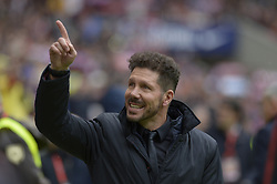 March 11, 2018 - Madrid, Madrid, Spain - Diego Simeone coach of Atletico de Madrid during a match between Atletico de Madrid vs Celta de Vigo at Wanda Metropolitano Stadium on Febraury 18, 2018 in Madrid, Spain. (Credit Image: © Patricio Realpe/NurPhoto via ZUMA Press)