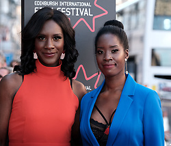 Edinburgh International Film Festival 2019<br /> <br /> Boyz In The Wood (European Premiere)<br /> <br /> Stars and guests arrive on the red carpet for the opening gala<br /> <br /> Pictured: Moyo Akande and Morayo Akande<br /> <br /> Alex Todd | Edinburgh Elite media