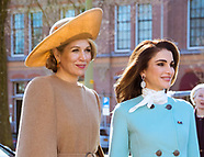 Queen Rania, King Abdullah & Queen Maxima-The Hague