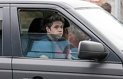 © Licensed to London News Pictures. 18/03/13. UK. One Direction star, Niall Horan is stuck in London traffic with an unknown girl, today 18th March 2013. He passed his driving test on 14 January 2013. Picture Credit: LNP