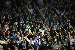 Dragons - fans of ZM Olimpija at ice hockey matchZM Olimpija vs Liwest Linz in second round of semi-final of Ebel League (Erste Bank Eishockey Liga),  on February 28, 2008 in Arena Tivoli, Ljubljana, Slovenia. Win of ZM Olimpija 3:2. (Photo by Vid Ponikvar / Sportal Images)
