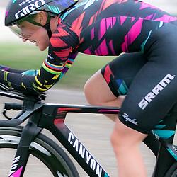 22-04-2016: Wielrennen: Tijdrit vrouwen: Borsele<br />Een tijdrit voor vrouwen op de vrijdagavond voorafgaand aan de omloop van Borsele voor vrouwen. <br />De Duitse Lisa Brennauer was de sterkste in de tijdrit