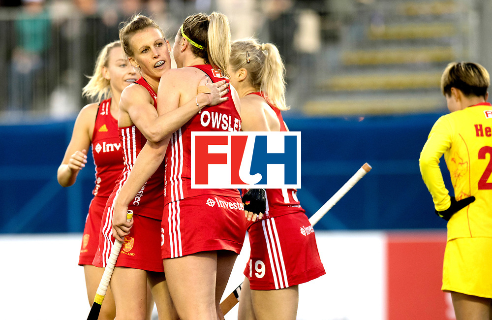 AUCKLAND - Sentinel Hockey World League final women<br /> Match id 10302<br /> ENG v China<br /> Foto:  Alex Danson(C) and Lily Owsley scored aftewr a assist from Lily.<br /> WORLDSPORTPICS COPYRIGHT FRANK UIJLENBROEK