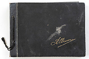 front of a photo album