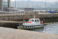 Pilot boat, practico (Spanish) = pilot (English), Santander, Spain, May, 2015, 201505080892,<br /> <br /> Copyright Image from Victor Patterson, 54 Dorchester Park, Belfast, UK, BT9 6RJ<br /> <br /> t: +44 28 9066 1296<br /> m: +44 7802 353836<br /> vm +44 20 8816 7153<br /> <br /> e1: victorpatterson@me.com<br /> e2: victorpatterson@gmail.com<br /> <br /> www.victorpatterson.com<br /> <br /> IMPORTANT: Please see my Terms and Conditions of Use at www.victorpatterson.com