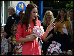 ©Licensed to i-Images Picture Agency. 01/07/2014. London, United Kingdom. The Duchess of Cambridge visits an M-PACT Plus counselling programme in Islington, London . Picture by Andrew Parsons / i-Images