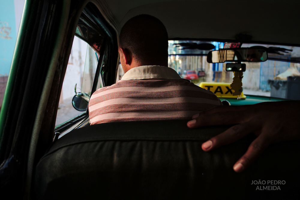 Inside of the many shared taxis that runs through the streets of Havana, most are old American or Soviet cars.
