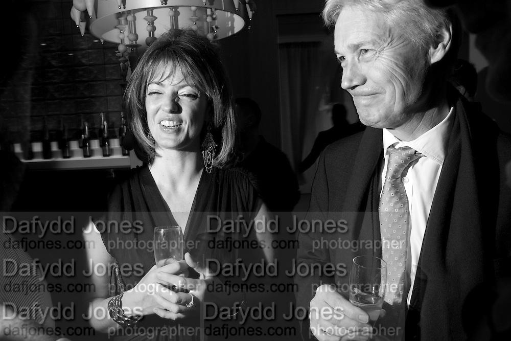 PETRONELLA WYATT; RICHARD KAY, Launch of Nicky Haslam's book Redeeming Features. Aqua Nueva. 5th floor. 240 Regent St. London W1.  5 November 2009.  *** Local Caption *** -DO NOT ARCHIVE-© Copyright Photograph by Dafydd Jones. 248 Clapham Rd. London SW9 0PZ. Tel 0207 820 0771. www.dafjones.com.<br /> PETRONELLA WYATT; RICHARD KAY, Launch of Nicky Haslam's book Redeeming Features. Aqua Nueva. 5th floor. 240 Regent St. London W1.  5 November 2009.