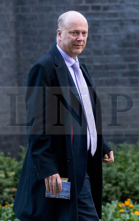 © Licensed to London News Pictures. 16/01/2018. London, UK. Transport Secretary Chris Grayling leaving Downing Street after attending a Cabinet meeting this morning. Photo credit : Tom Nicholson/LNP