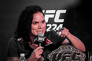 March 20, 2018 - Brazil - RIO DE JANEIRO, RJ - 20.03.2018: COLETIVA UFC 224 NUNES X PENNINGTON - Amanda Nunes during the press conference for the UFC 224 sales opening announcement: Nunes x Pennington, event scheduled for May 12 at Jeunesse Arena in Rio de Janeiro. (Credit Image: © Fotoarena via ZUMA Press)