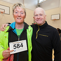 Anne DOyle and Fr. Jerry Carey, Ennis,taking part in the 2015 Hurley Hoey Charity 10K Run