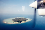INDONESIA, Karimunjawa Archipelago, approaching KuraKura Resort by private plane