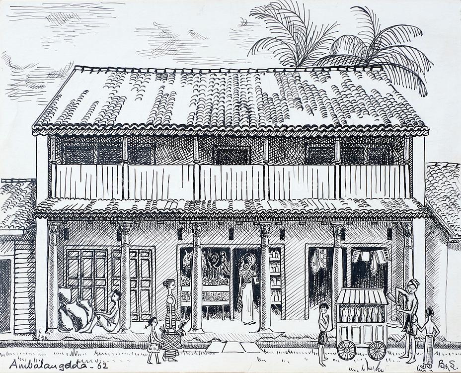 Barbara Sansoni.  <br /> House in Ambalangoda. 1962