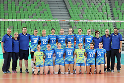 Team Slovenia during volleyball match between Slovenia and Slovakia in CEV European League Women on June 22, 2016 in Stozice, Ljubljana, Slovenia. Photo by Morgan Kristan / Sportida