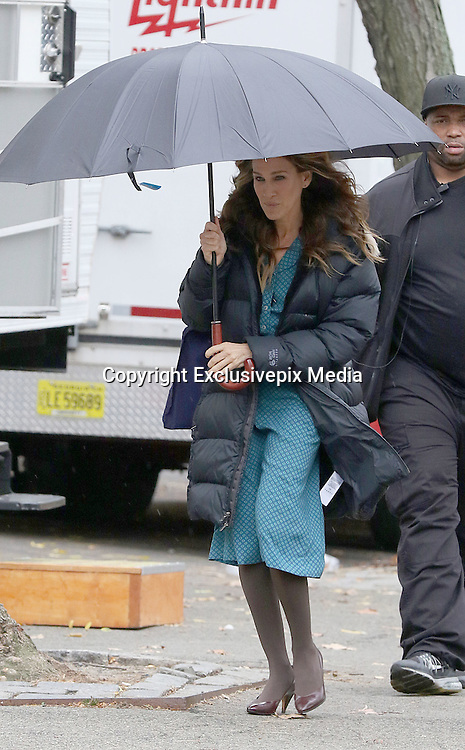 Nov. 19, 2015 - New York City, NY, USA - <br /> <br /> Actress Sarah Jessica Parker was on the set of the new TV show 'Divorce' <br /> &copy;Exclusivepix Media