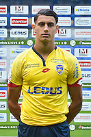 Rayan Senhadji of Sochaux during the FC Sochaux photocall for the season 2016/2017 in Sochaux on September 20th 2016<br /> Photo : Philippe Le Brech / Icon Sport