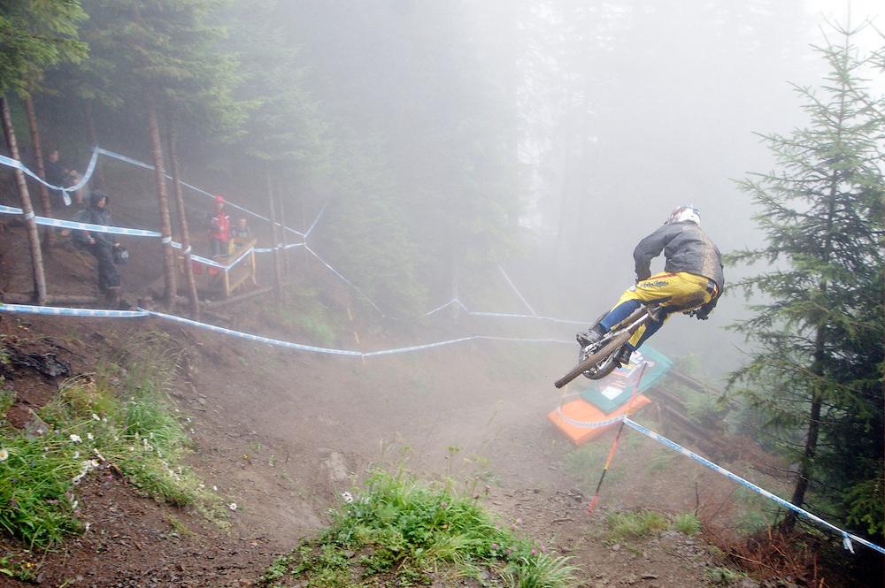 UCI World Cup mountain bike Downhill 4, Champery, Switzerland. July 24.