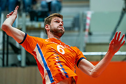 12-06-2019 NED: Golden League Netherlands - Estonia, Hoogeveen<br /> Fifth match poule B - The Netherlands win 3-0 from Estonia in the series of the group stage in the Golden European League / Luuc van der Ent #6 of Netherlands