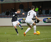 Dundee&rsquo;s Rory Loy shoots - Dundee v Dumbarton, William Hill Scottish Cup Fifth Round at Dens Park<br /> <br />  - &copy; David Young - www.davidyoungphoto.co.uk - email: davidyoungphoto@gmail.com