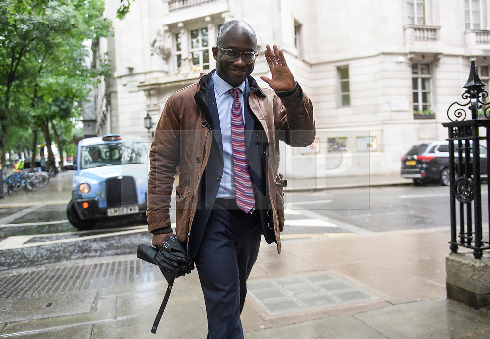 © Licensed to London News Pictures. 10/06/2019. London, UK. Conservative MP SAM GYIMAH is seen in Westminster, London. Nominations open today for MPs to officially stand to be the leader of the Conservative Party. Photo credit: Ben Cawthra/LNP