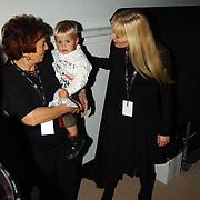 CD presentatie Frans Bauer, zwangere vrouw Mariska Rossenberg en zoon Jan