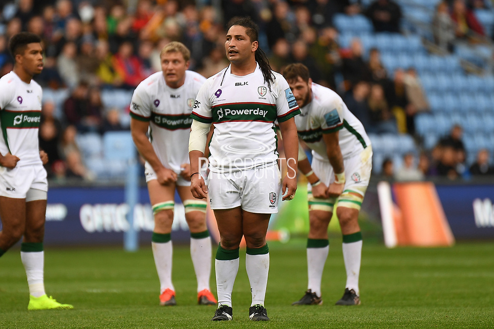 London Irish hooker Saia Fainga'a during the Gallagher Premiership Rugby match between Wasps and London Irish at the Ricoh Arena, Coventry, England on 20 October 2019.
