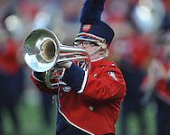 Ole Miss band at Vaught-Hemingway Stadium in Oxford, Miss. on Saturday, September 27, 2014.