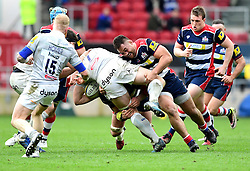 Jack Lam of Bristol Rugby tackles David Denton of Bath Rugby  - Mandatory by-line: Joe Meredith/JMP - 26/02/2017 - RUGBY - Ashton Gate - Bristol, England - Bristol Rugby v Bath Rugby - Aviva Premiership