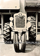 Tractor Portrait<br /> 5x7 tintype on aluminum.