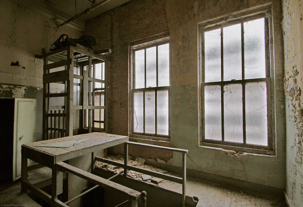 Interior of old warehouse