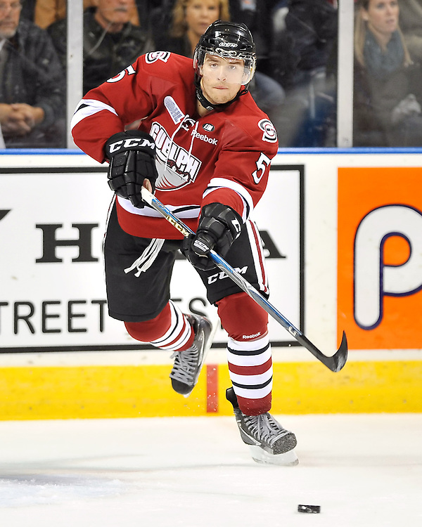 2011-12 Guelph Storm.<br /> Photo by Terry Wilson / OHL Images.